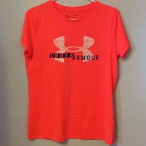 Under Armour Rugby Shirt Neon Orange